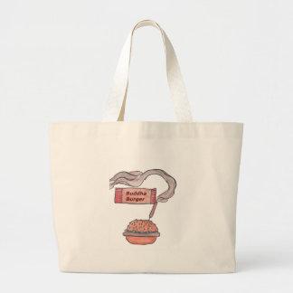 仏のハンバーガー ラージトートバッグ