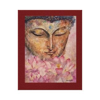 仏のピンクのはす水彩画のキャンバスのプリント8x10 キャンバスプリント