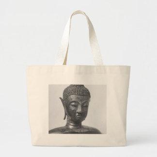 仏のヘッド15世紀-タイ ラージトートバッグ