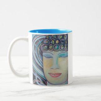 仏のマグの~をめい想して仏完全です! ツートーンマグカップ