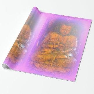 仏の包装紙を坐らせる落ち着いた紫色のオーラ ラッピングペーパー
