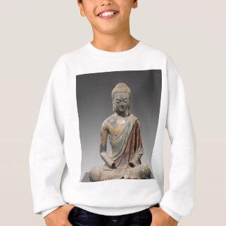 仏の変色させた彫刻-唐朝(618) スウェットシャツ
