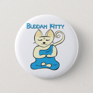 仏の子猫 5.7CM 丸型バッジ