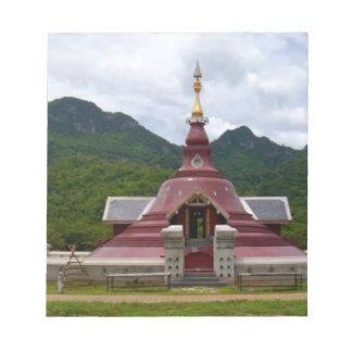 仏の寺院 ノートパッド