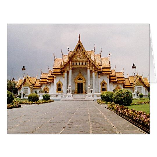 仏の引用文の金ゴールドの大理石の寺院 ビッググリーティーングカード