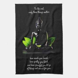 仏の引用文3手タオル キッチンタオル