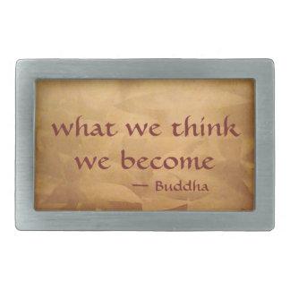 仏の引用文; 私達が考える何を私達はなります 長方形ベルトバックル