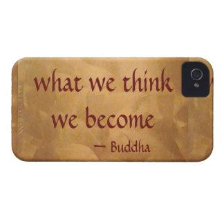 仏の引用文; 私達が考える何を私達はなります Case-Mate iPhone 4 ケース