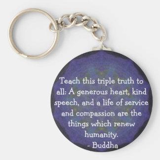 仏の引用語句-教えて下さいこの三重の真実をに…. キーホルダー
