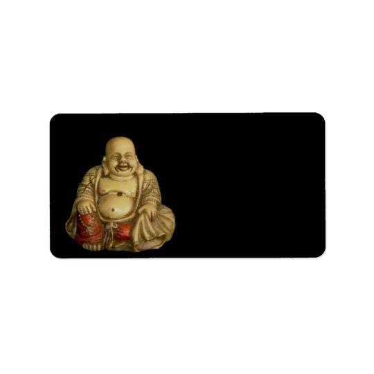 仏の彫像の宛名ラベル 宛名ラベル