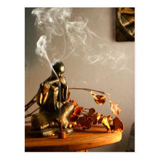 仏の彫像の祈りの言葉部屋の香 ポストカード