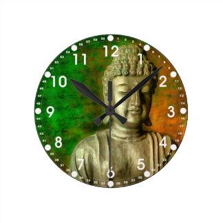 仏の心 ラウンド壁時計