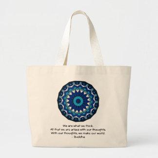 仏の感動的な引用文 ラージトートバッグ