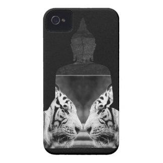 仏の白いトラのiPhone 4sの箱 Case-Mate iPhone 4 ケース