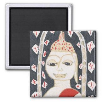 仏の落ち着いた正方形の磁石 マグネット