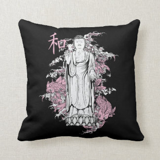 仏の装飾用クッションの黒 クッション