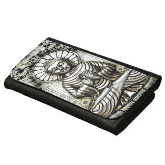 仏の銀製の財布