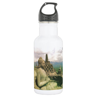 仏の鐘の彫像、Borobodurの寺院、ジャワ ウォーターボトル