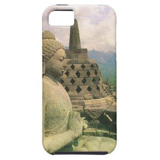 仏の鐘の彫像、Borobodurの寺院、ジャワ iPhone SE/5/5s ケース