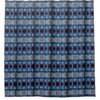仏の青いハート シャワーカーテン