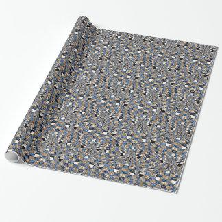 仏の青い波の包装紙 ラッピングペーパー