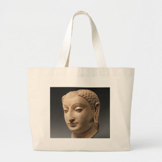 仏の頭部-第5第6世紀 ラージトートバッグ