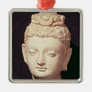 仏の頭部、Greco仏教のスタイル メタルオーナメント