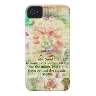 仏の黙想の引用文の芸術 Case-Mate iPhone 4 ケース