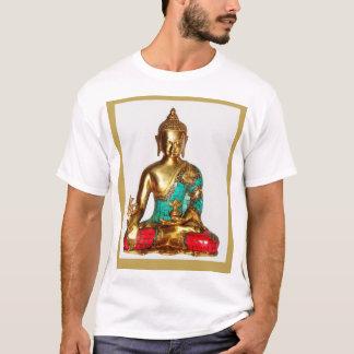 仏の黙想のACTIVEWEARの人の基本的なTシャツ Tシャツ