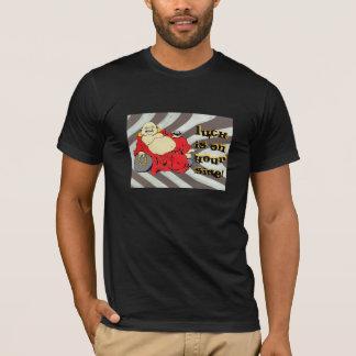 仏の(運はあなたの側面にあります) Tシャツ