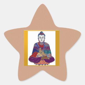 仏のTeacher Meditationマスターのヨガの精神の主 星シール