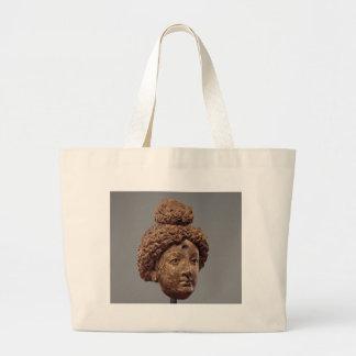仏または菩薩の頭部 ラージトートバッグ