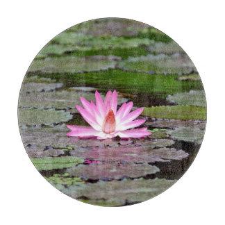 仏アジアのはすの花 カッティングボード