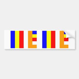仏教の旗 バンパーステッカー