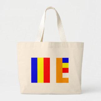 仏教の旗 ラージトートバッグ
