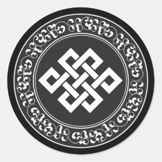 仏教の無限の結び目 ラウンドシール