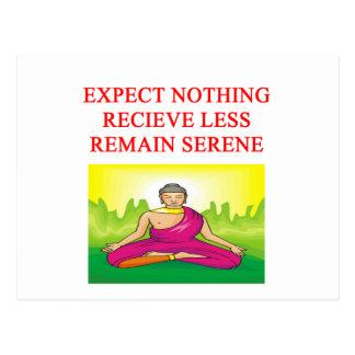 仏教の黙想のニューエイジのデザイン ポストカード