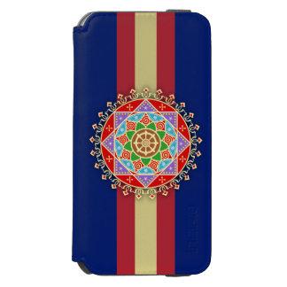 仏教のDharmaの車輪の曼荼羅 Incipio Watson™ iPhone 6 ウォレットケース
