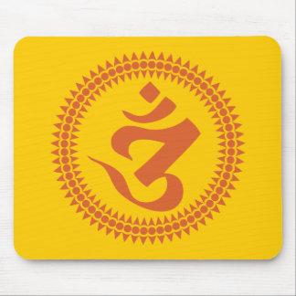仏教のSiddhamの原稿Omの記号 マウスパッド