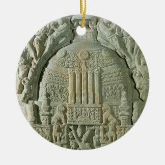 仏教のstupa、Nagarjunakonda (石灰岩) セラミックオーナメント