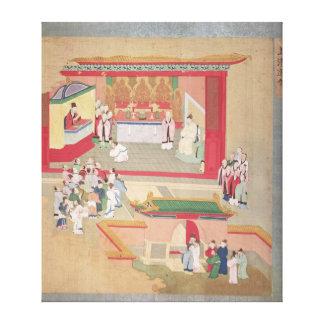 仏教徒と練習する皇帝Hui Tsung キャンバスプリント