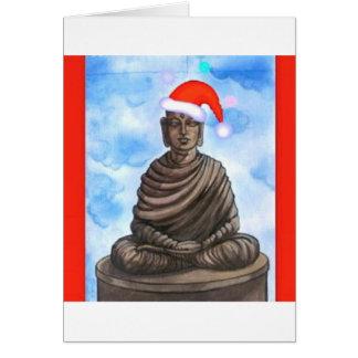 仏教-仏-メリークリスマスの帽子 カード