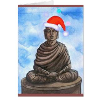 仏教-仏-メリークリスマスの帽子 グリーティングカード