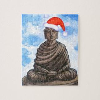 仏教-仏-メリークリスマスの帽子 ジグソーパズル