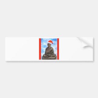 仏教-仏-メリークリスマスの帽子 バンパーステッカー