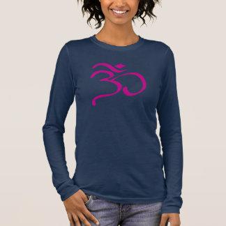仏教Omの女性の長袖のTシャツ 長袖Tシャツ