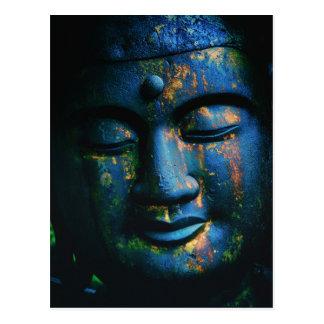 仏青いOmの平和L ポストカード