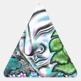 仏 三角形シール