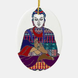 仏Mahatmaの仏教の親切な平和愛ライト セラミックオーナメント