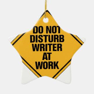 仕事で作家を妨げないで下さい セラミックオーナメント